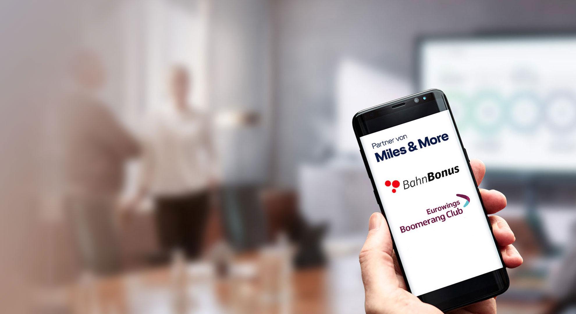 HRS Bonusprogramme ganz bequem mit dem Handy abrufen.